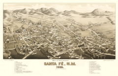 Santa Fe, 1882. The railroad era.
